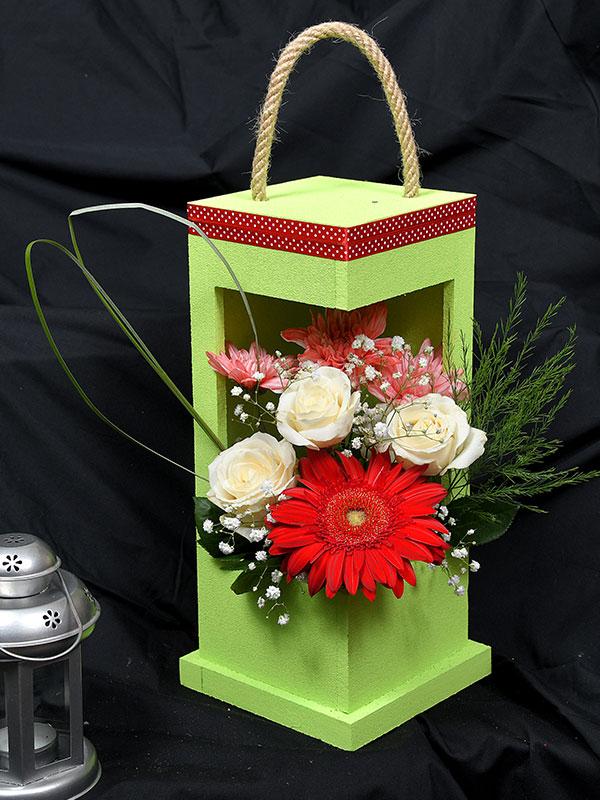 Cveće u zelenoj kutiji
