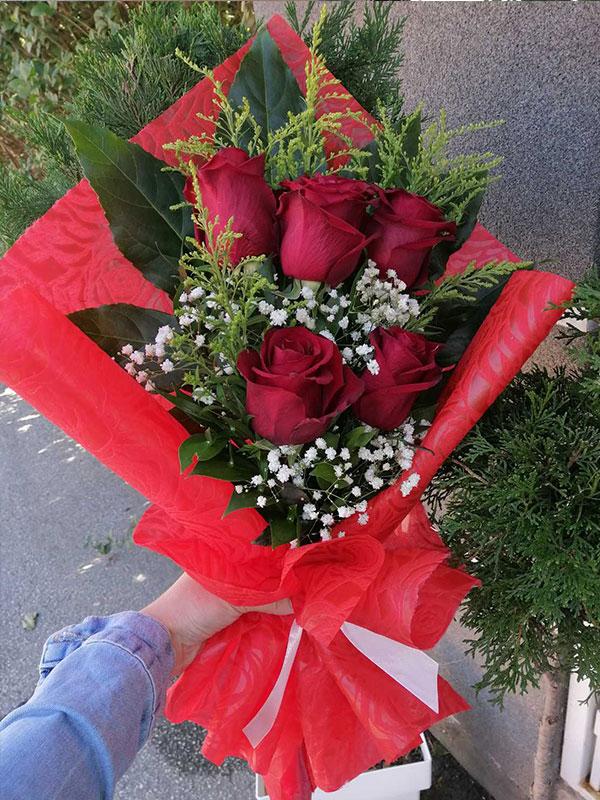 Buket 5 crvenih ruža