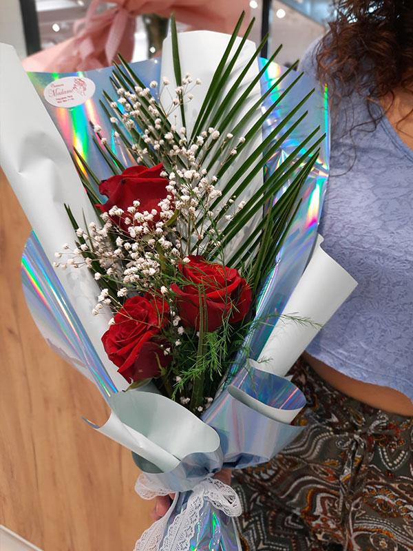 Madame Cvećara | Buket 3 ruže